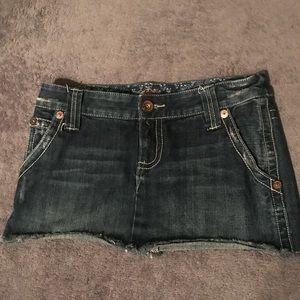 Billabong mini jean skirt